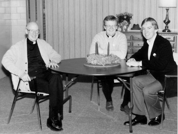 1984 Sacred Heart Church, Fr. Clem, Deacon Kevin and Fr. Ron
