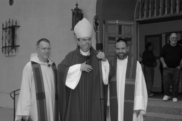 Bishop Michael Sheridan of Colorado Springs and Fr, Drew