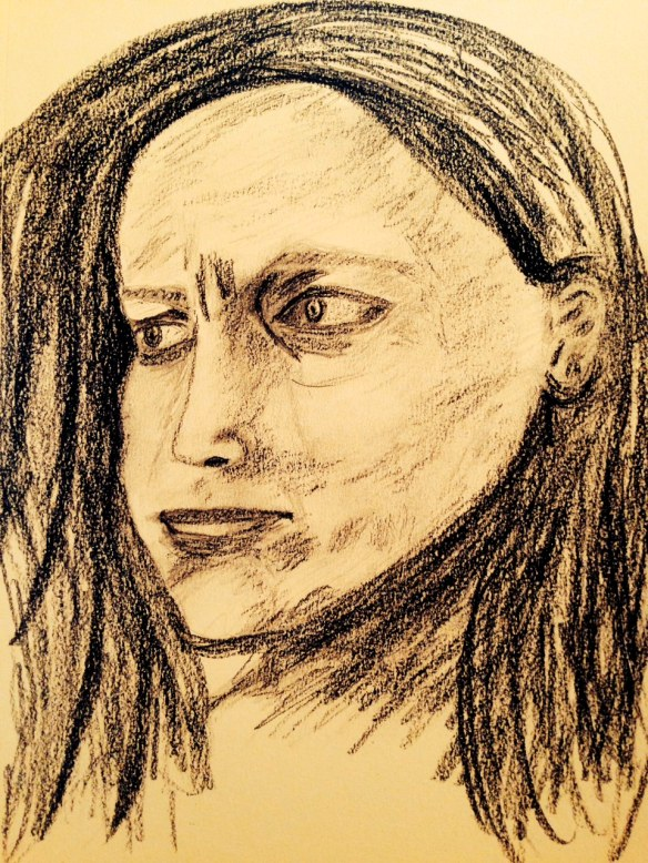 """Drawing: Ronald Raab, CSC """"At his feet weeping"""""""