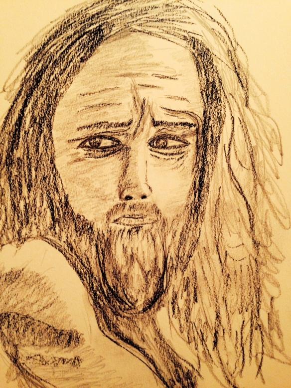 """Drawing: Ronald Raab, CSC """"Last minute"""""""