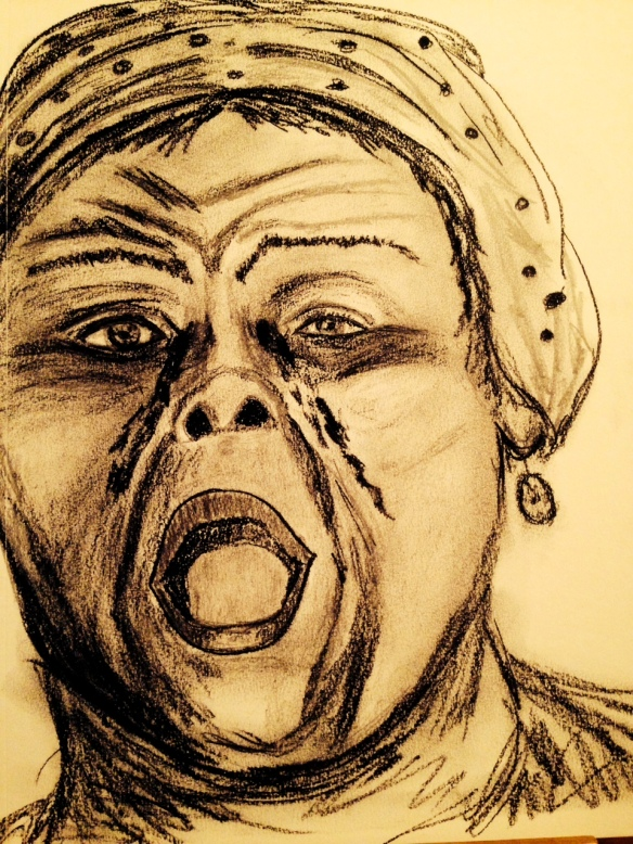 "Drawing by: Ronald Raab, CSC ""Mother of Sorrows"""