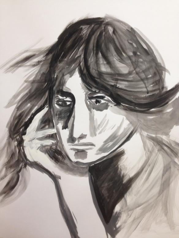 "Painting: Ronald Raab,CSC ""Anticipating"""