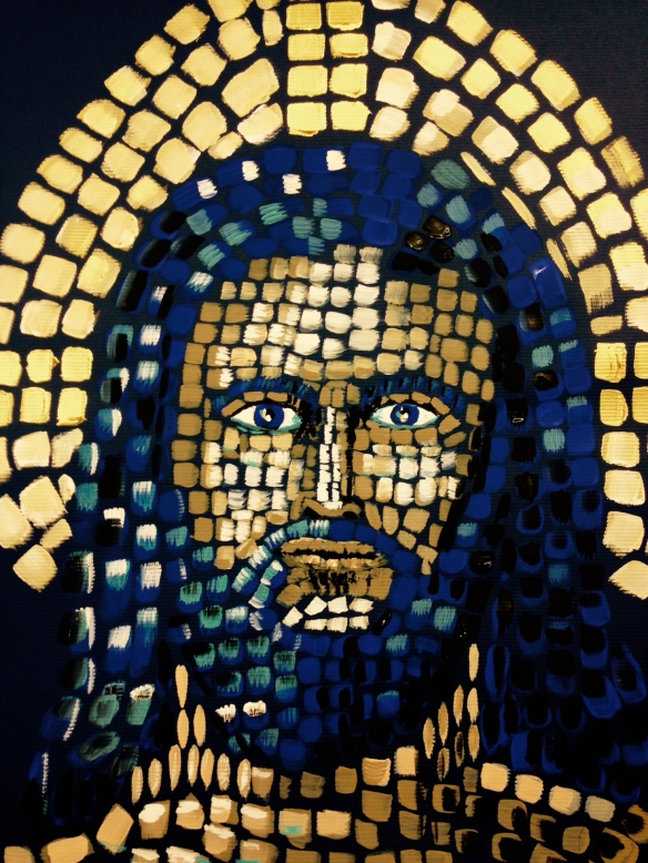 """Christ the King"" Painting in acrylics: Ronald Raab, CSC"