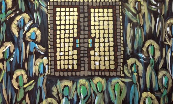 """Souls Awaiting the Christ"" Painting: Ronald Raab, CSC"