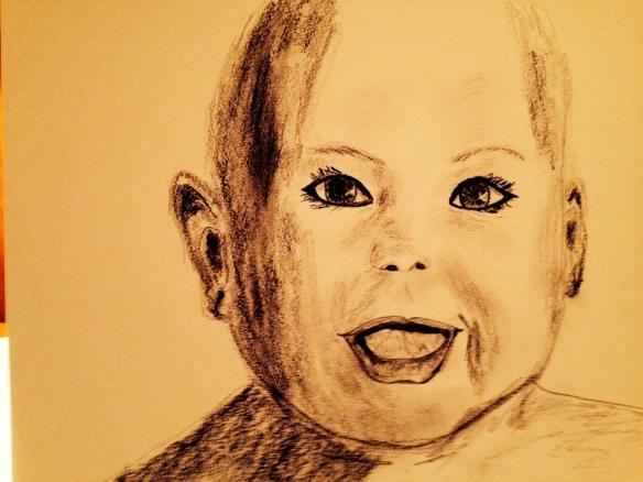 """Tomorrow"" Drawing by Ronald Raab, CSC"