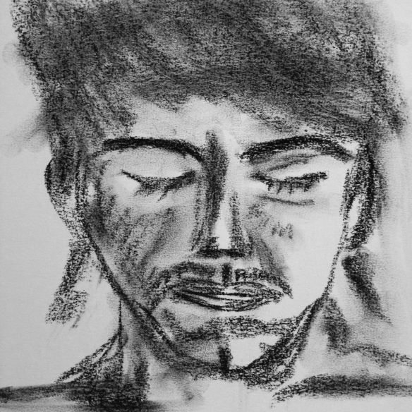 """""""The Servant Who Buried His Master's Money"""" Charcoal Sketch: Ronald Raab, CSC"""