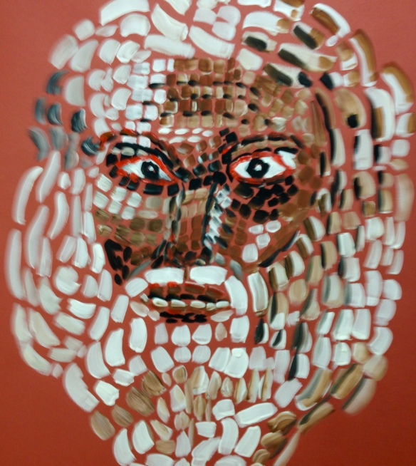 """Warrior Prophet, John"" Acrylics: Ronald Raab, CSC"