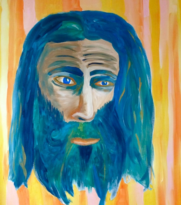 """One Crying Out"" Painting in acrylics of John the Baptist By: Ronald Raab, CSC"