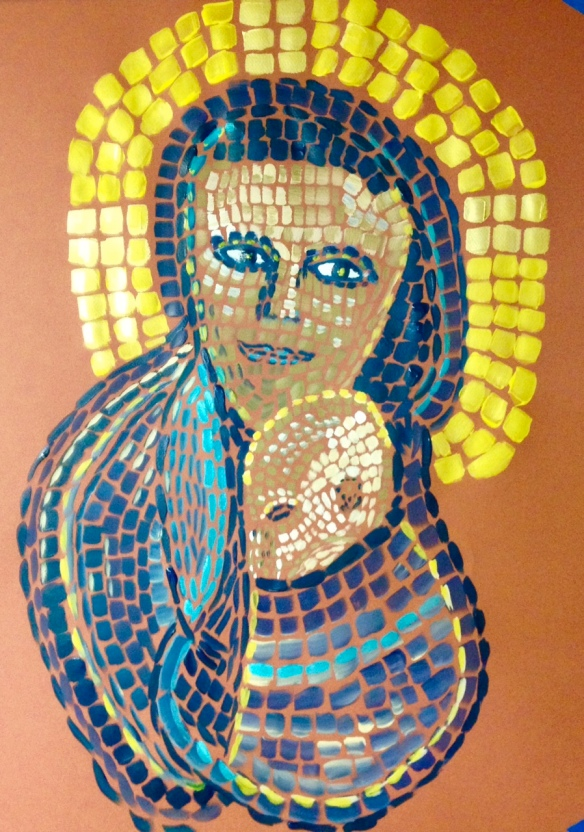 """Mother and Child"" Painting: Ronald Raab, CSC"