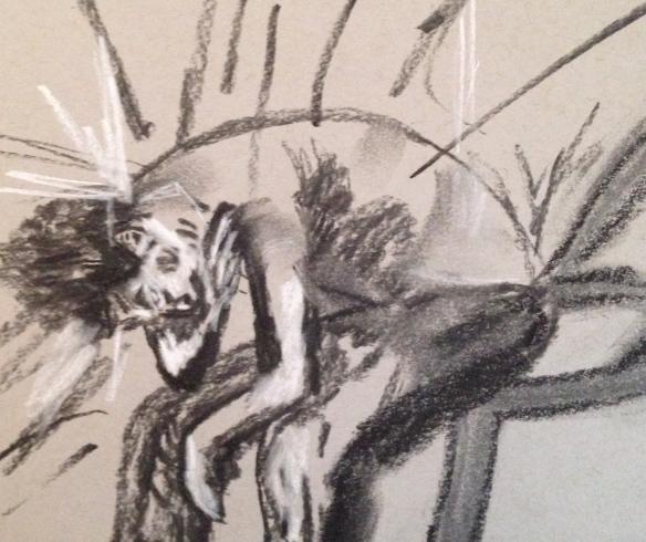 """""""Hear my cry"""" Charcoal: Ronald Raab, CSC"""