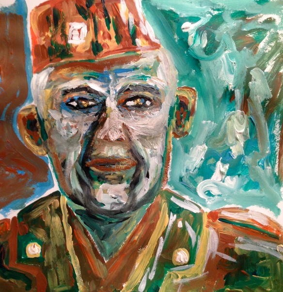 """The Veteran of All Wars"" Painting: Ronald Raab, CSC"