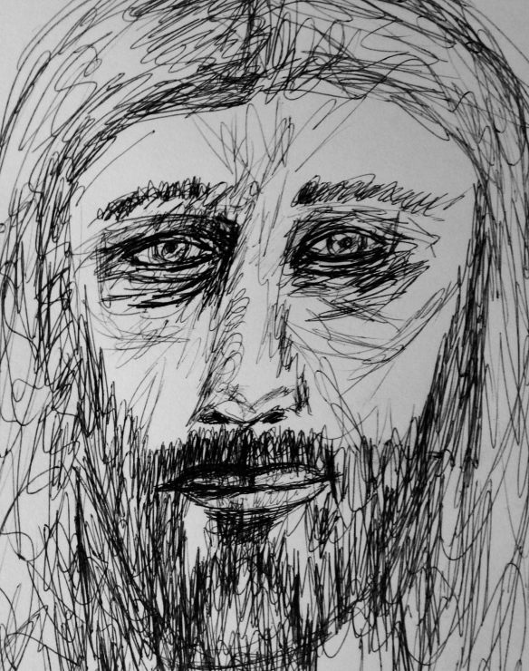 """The Vulnerable Jesus""   Sketch: Ronald Raab, CSC"