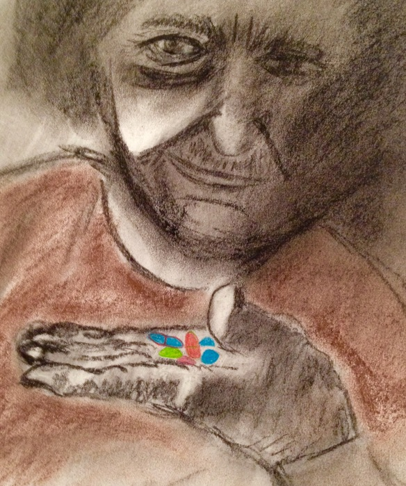 """Which pills do I take?"" Charcoal: Ronald Raab, CSC"
