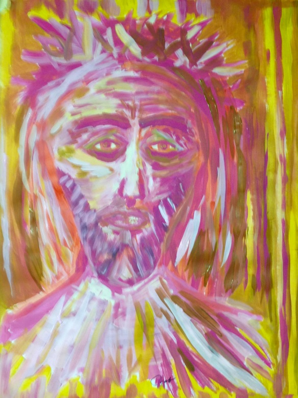 """""""In the name of Son"""" Painting: Ronald Raab, CSC May 2015"""