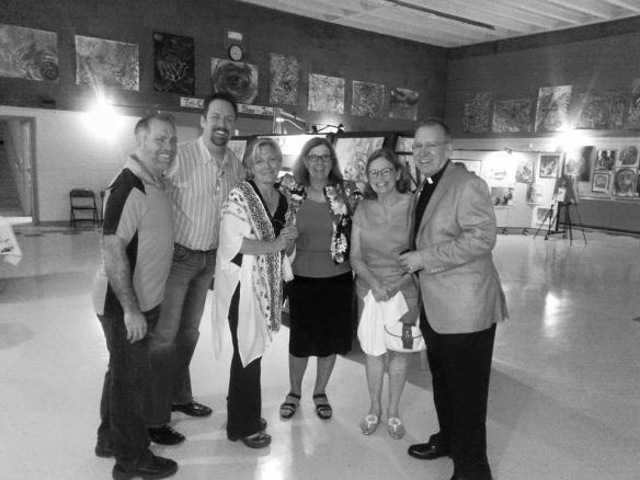 Lisa Lundquist, art teacher, (third from left) Saturday June 6, 2015
