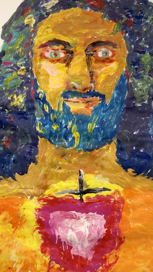 Sacred Heart Finger Painting: Raab 2014