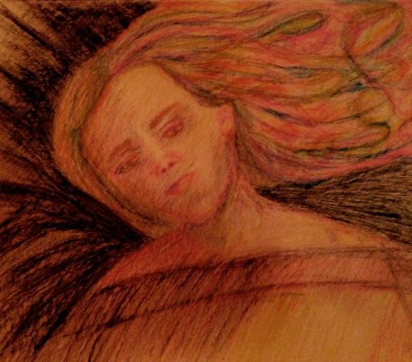 """""""Jairus' Daughter"""" Sketch: Ronald Raab, CSC"""