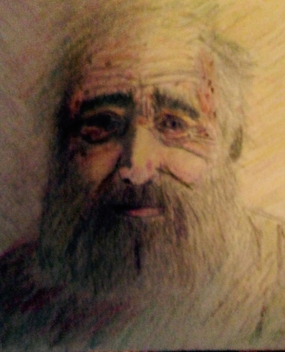 """The Fragile Wise"" Colored Pencil: Ronald Raab, CSC June 2015"