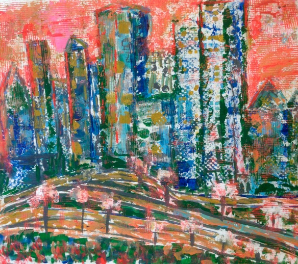 """""""To all the world"""" Painting: Ronald Raab, CSC"""