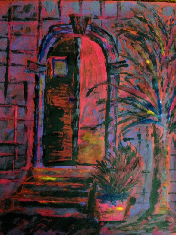 """The Door of Mercy"" Painting: Ronald Raab, CSC 2015"