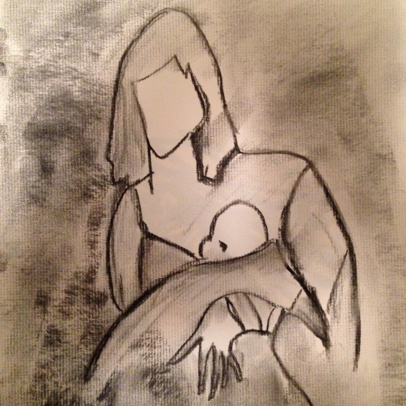 """Mother of Mercy"" Sketch: Ronald Raab, CSC"
