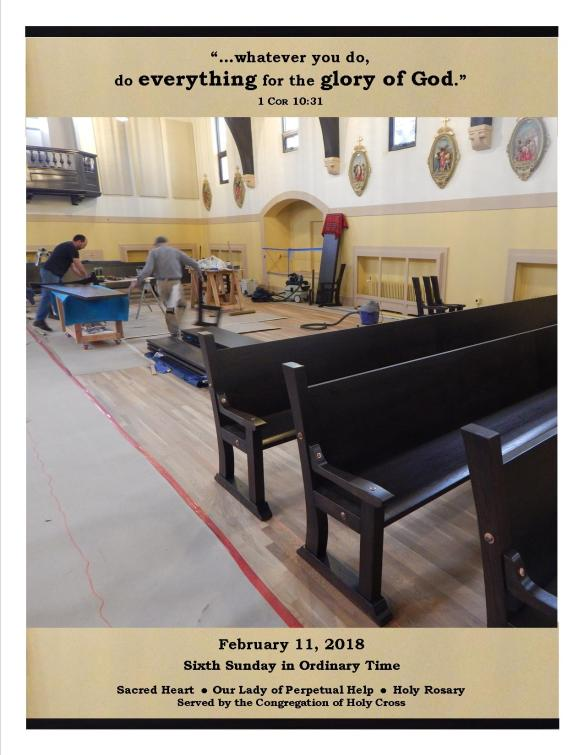 Feb. 11, 2018 Bulletin Cover