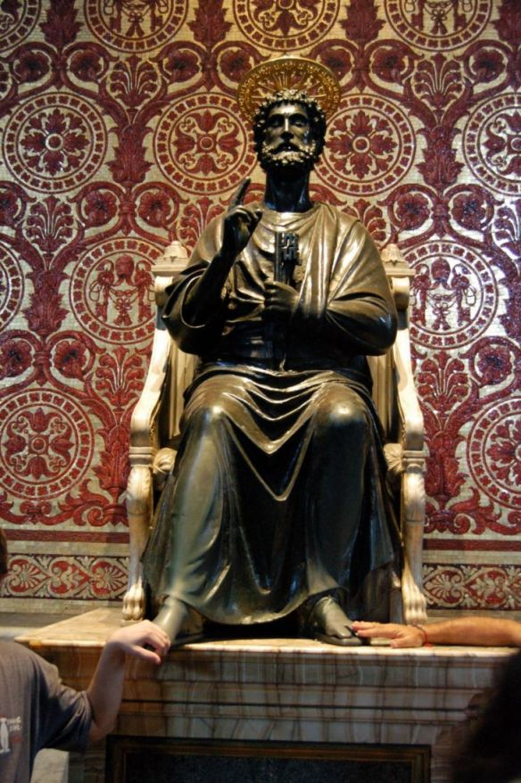 bronze-statue-of-st-peter-enthroned